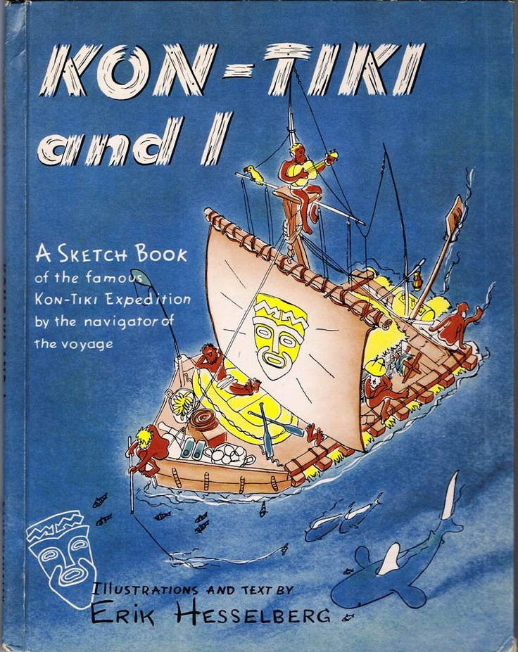 Sketch Book kept by Erik Hesselberg, one of five men on the Kon Tiki expedition.