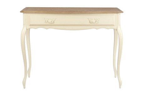 Provencale - Ivory Console Table - Oak Top