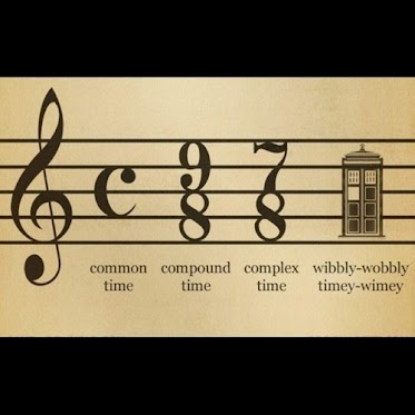 Aweosme!: Music Jokes, Timey Wimey, Wibbl Wobble, Timeywimey, Doctors Who, Sheet Music, Dr. Who, Music Theory, Music Humor
