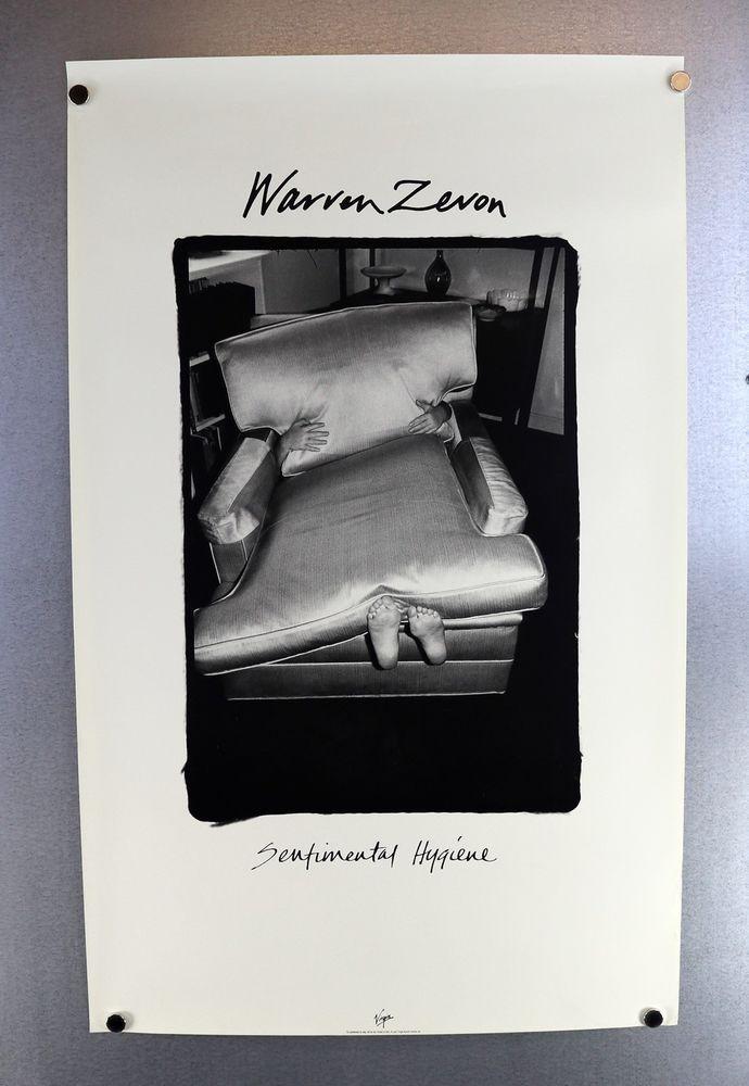 Warren Zevon 1987 Sentimental Hygiene Virgin Records Original Promo Poster OOP #Realism