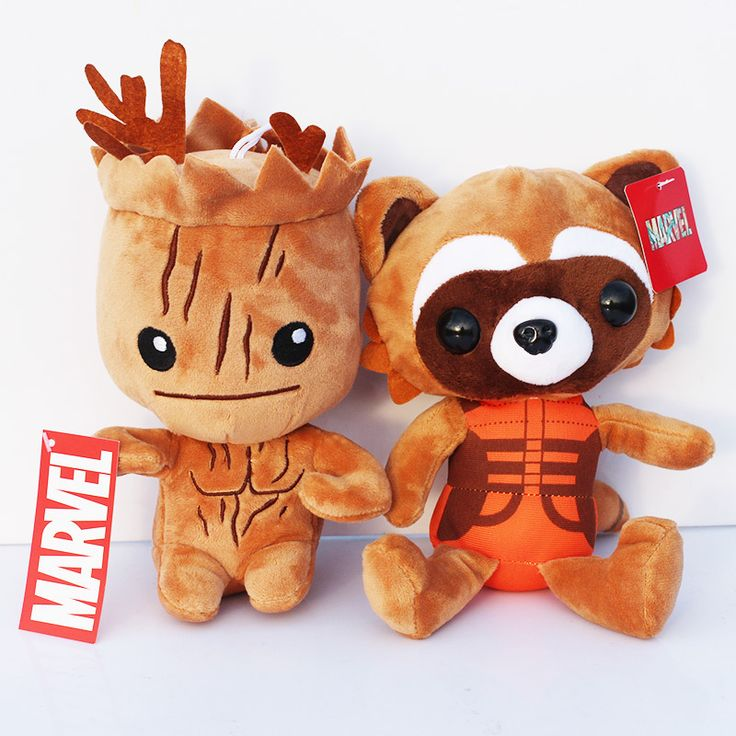 """2pcs/set 8""""20cm Guardians of the Galaxy Tree People Groot & Rocket Raccoon Stuffed Animal Plush Toy With Tag Dolls For Children-in Movies & TV from Toys & Hobbies on Aliexpress.com   Alibaba Group"""