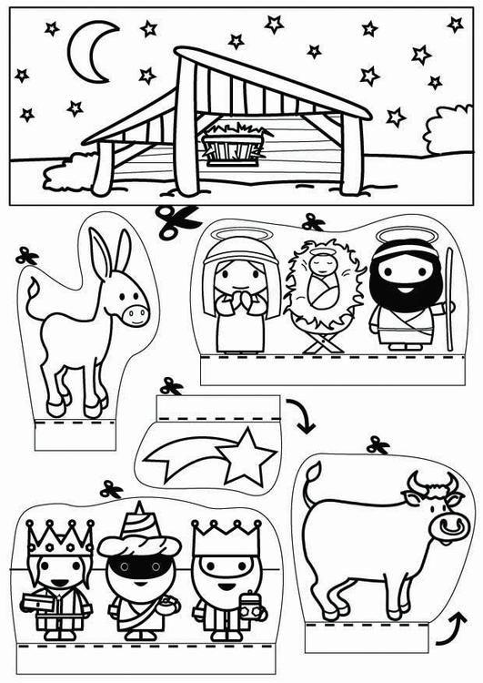 Knutselen kijkdoos Kerststal. Knutselen voor kinderen | Cat 26789.