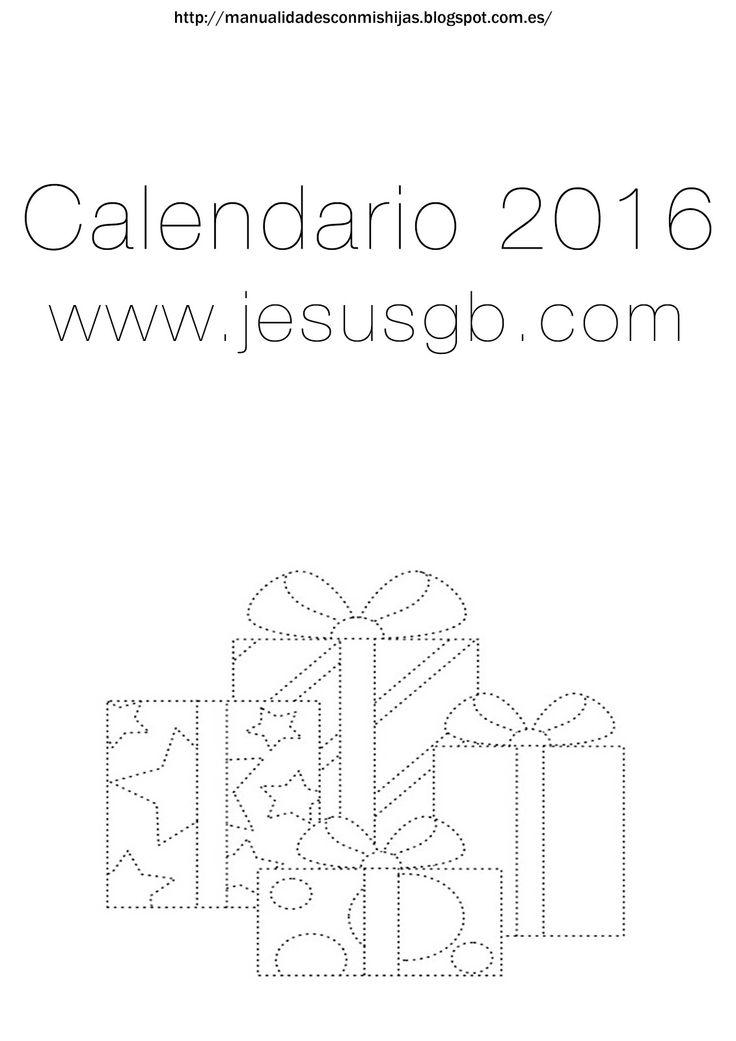 Manualidadesconmishijas: Calendario 2016 regalos navidad, sigue los puntos