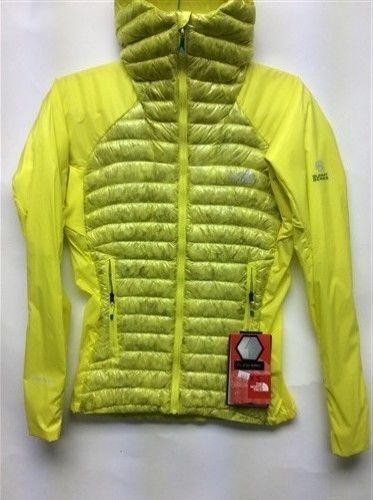 e0b24f91bd ... ebay the north face verto micro hooded down jacket womens summit series  coat yellow 38b73 59817