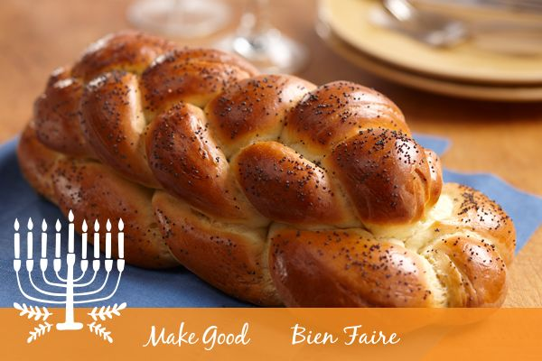 Happy Hanukkah! We hope that you celebrate with some Challah and your favourite family traditions during this special time of year!  https://www.makegood.ca/content/challah #makegood #recipe #hanukkah #tradition #challah #festive #holiday