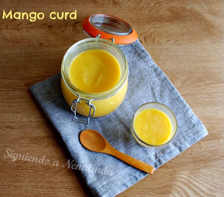 Siguiendo a Nenalinda: Mango Curd {con y sin Thermomix paso a paso}...