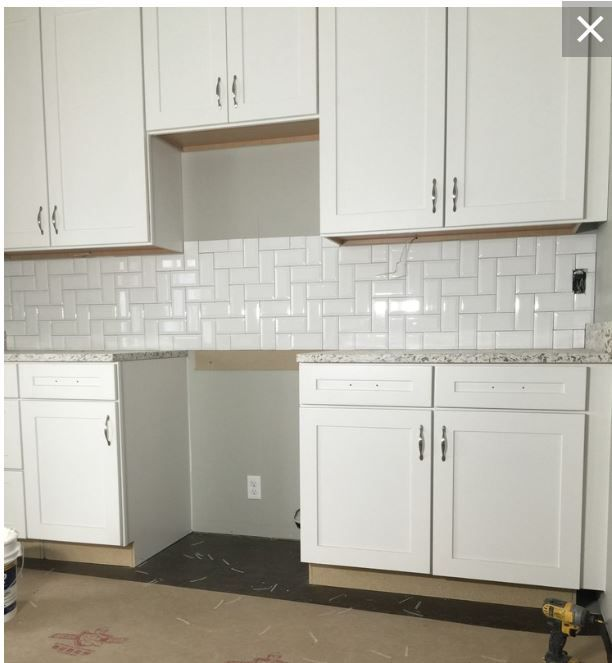 Herringbone Backsplash From Houzz Kitchen Cabinets Kitchen