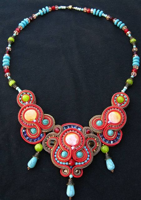 Makaresh redone Soutache necklace by Cielo Design, via Flickr