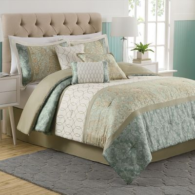 Dorado 7 Piece Comforter Set   BedBathandBeyond com   heh maybe. Best 25  Bedroom comforter sets ideas only on Pinterest   Grey