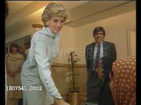 February 22, 1996: Princess Diana wearing a full length Pakistani gown the Salwar Kameez, greets women in wheelchairs on her visit to a hospital in Lahore, Pakistan. Video.