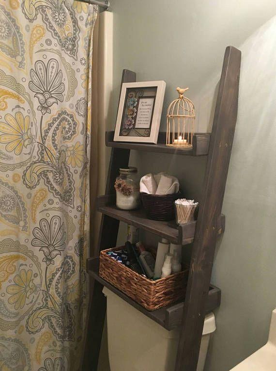over the toilet ladder shelf choose finish bathroom storage leaning ladder shelf toilet shelf over hamper shelf wood shelf ladder