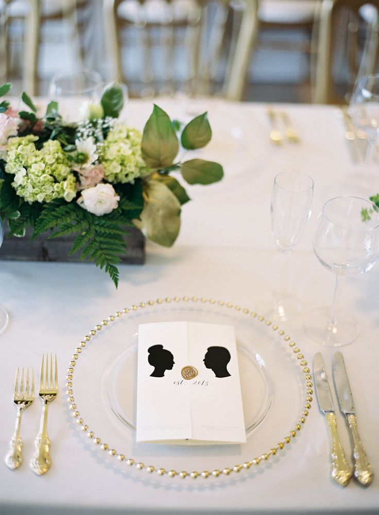 Perfect Classic Affair In San Francisco With A Modern Twist. Vintage Table SettingsElegant  ... Home Design Ideas