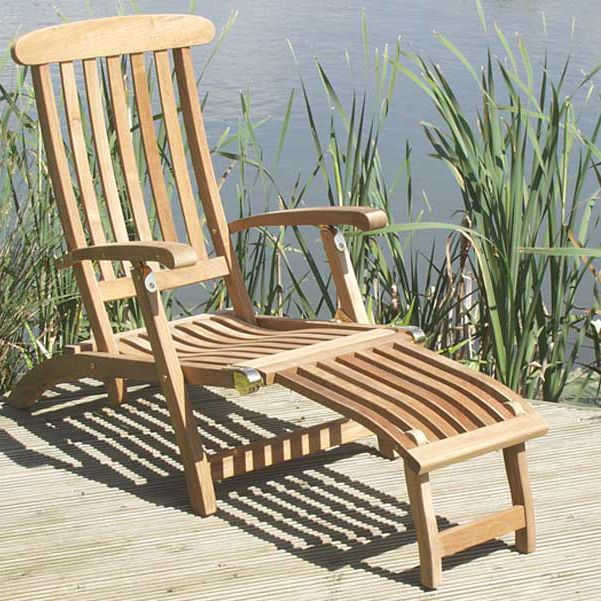 Get Comfy In The Commodore Steamer Chair By Barlow Tyrie Teak Outdoor  Furniture.