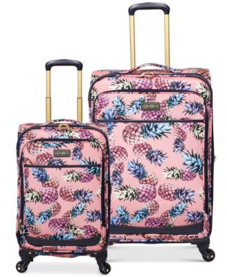 Jessica Simpson Pineapple Luggage Collection