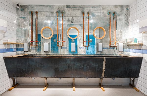 Toilet mirrors in Babetta Cafe  Design by @gsignstudio  #mirror #toilet #interior