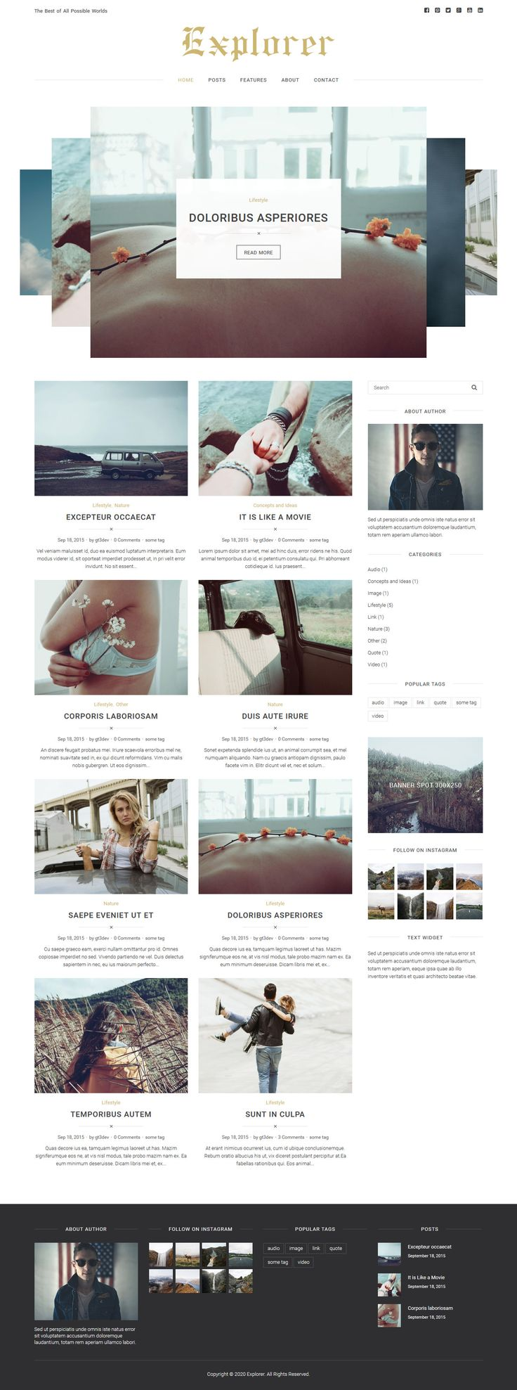 Explorer - Personal WordPress Blog Theme #blogging #blogtemplate Download: http://themeforest.net/item/explorer-personal-wordpress-blog-theme/13066135?ref=ksioks