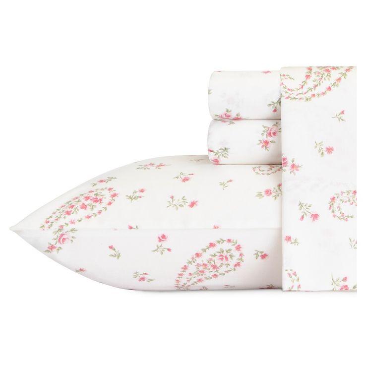 Bristol Paisley Sheet Set (Queen) Pink 300 Thread Count - Laura Ashley