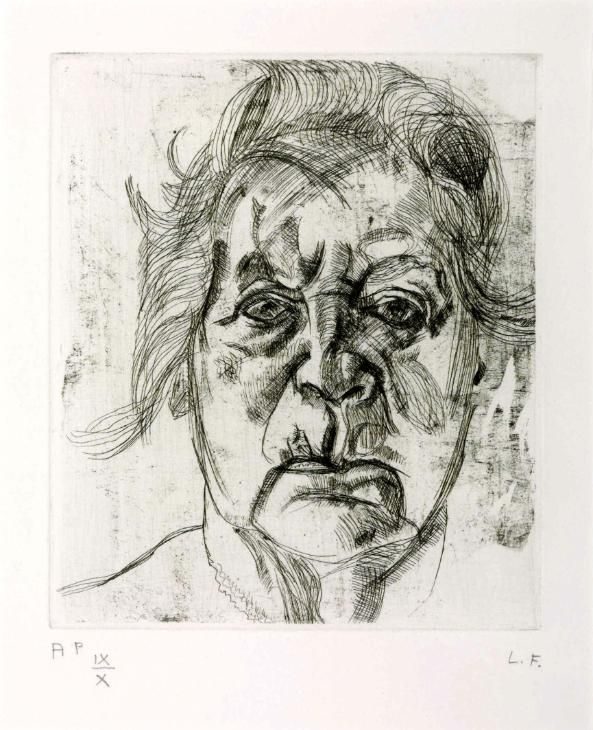 Lucian Freud 'The Painter's Mother', 1982 © The Lucian Freud Archive