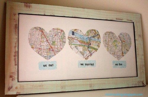 Map hearts of all the places we've lived...