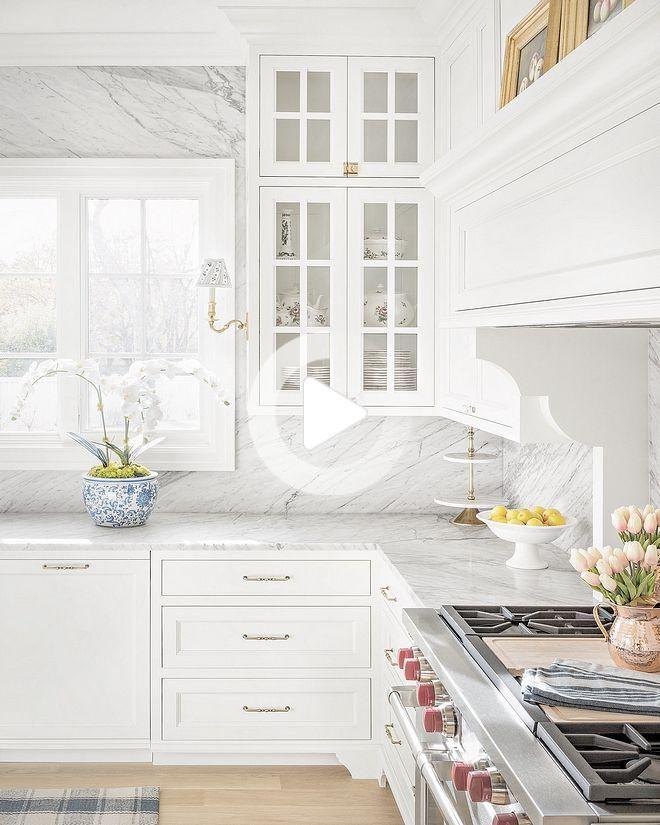 Benjamin Moore Oc 117 Simplement Blanc Cuisine Avec Blanc Carrara