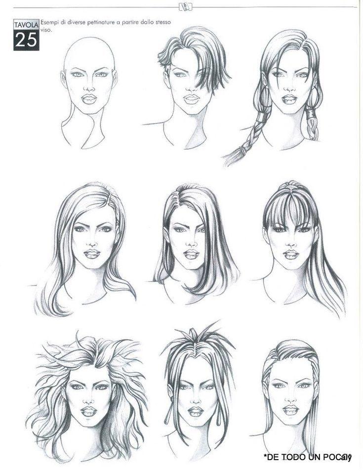 Google Modeillustration Gesicht Skizzierung Haare Skizze