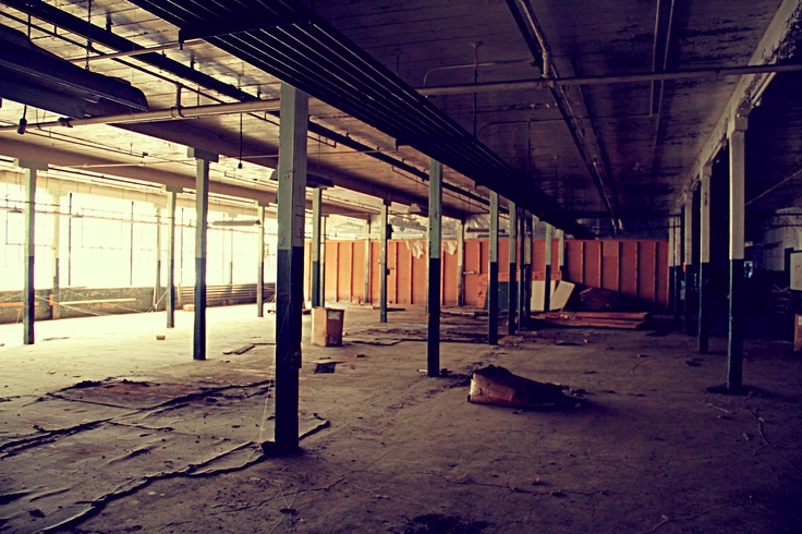 abandoned factory inside