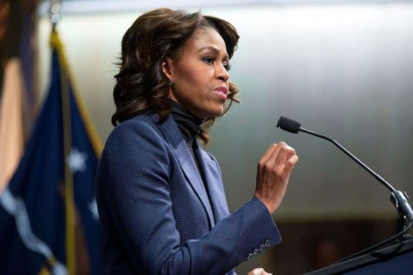 We often comment on the First Lady's style, but today's post reminds us that the First Lady isn't just a fashion icon. She is every bit the sharp, well-educated professional that her husband is.