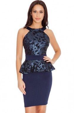 Detroit kék női ruha mydress 8990.-