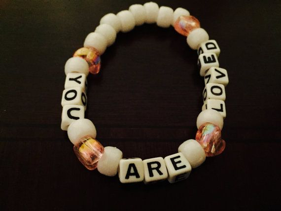 You Are Loved Kandi Bracelet by KandilandUSA on Etsy