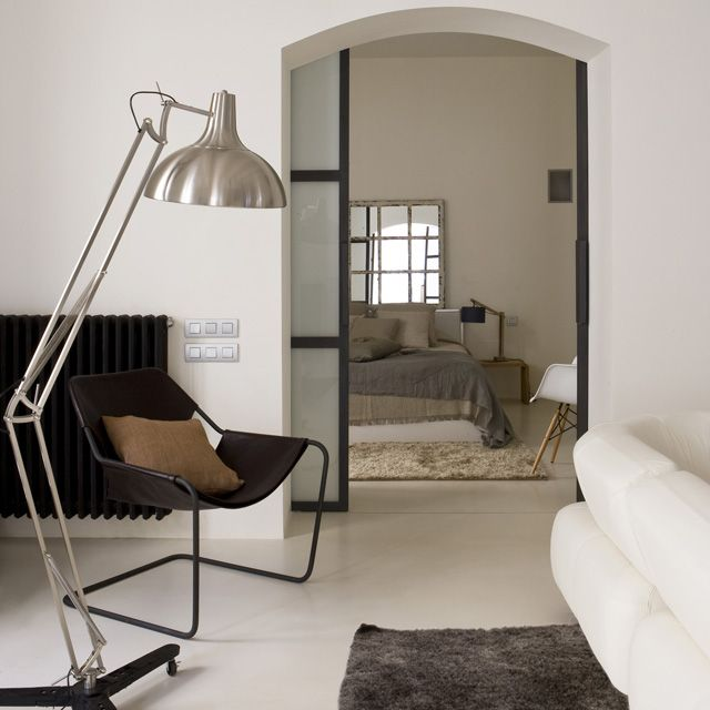 44 best floor lighting images on pinterest flooring floors and adesso atlas floor lamp accompanied by a beautiful chair and great interior colours aloadofball Choice Image