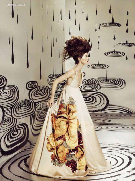 #chaoticRubens Toledo, Fashion Style, Art Photography, Dresses, Fashion Art, Fashion Illustration, Roberto Cavalli, Fashion Ads, Design