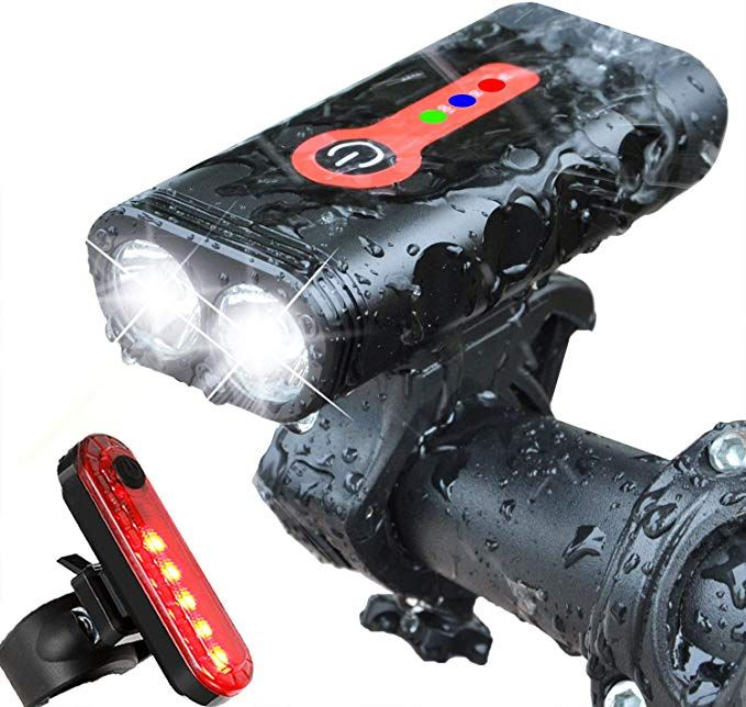 Wanku Bike Light Set Usb Rechargeable Bicycle Light Bike