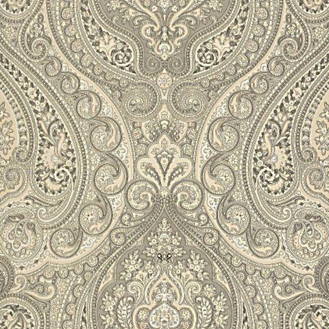 Ralph Lauren Adler Paisley Ebony Cream Designer Wallpaper All At Exceptional Pricing