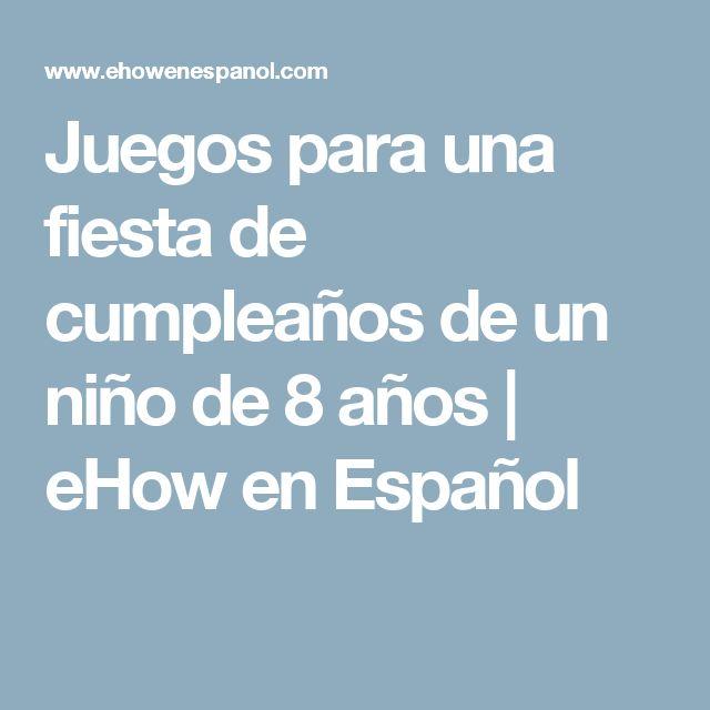 Juegos para una fiesta de cumpleaños de un niño de 8 años   eHow en Español