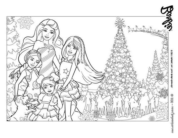 12 Immaculée Frais Coloriage Barbie Noel Photos | Coloriage barbie