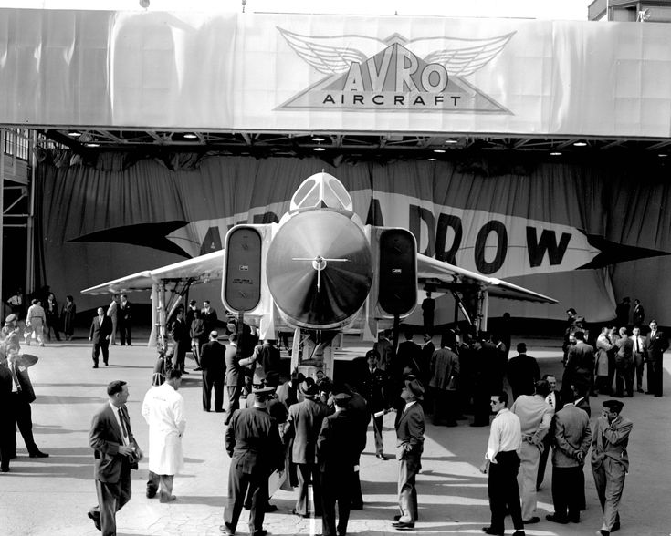 best avro arrow cf images avro arrow  avro arrow rl 201 rollout 4 1957