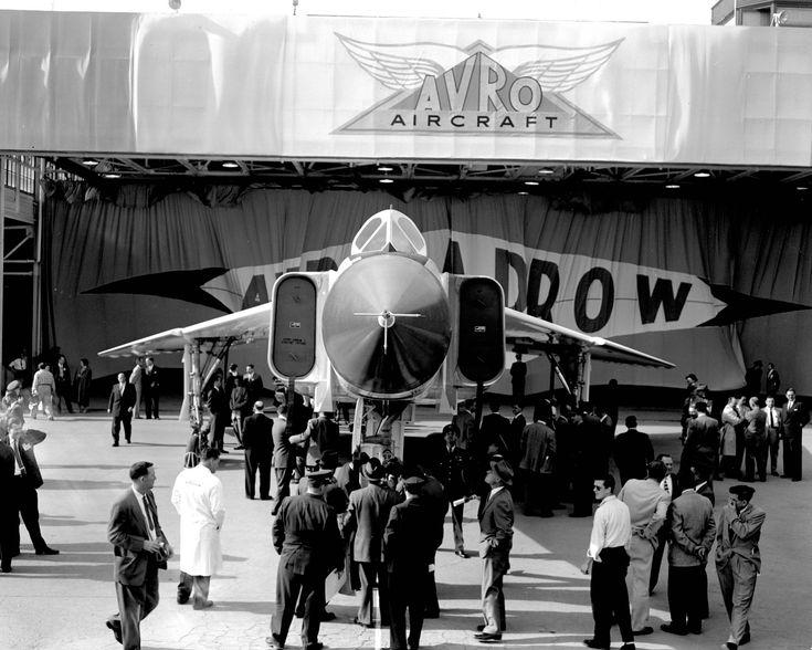 best avro arrow cf images avro arrow  avro arrow rl 201 rollout 4 1957