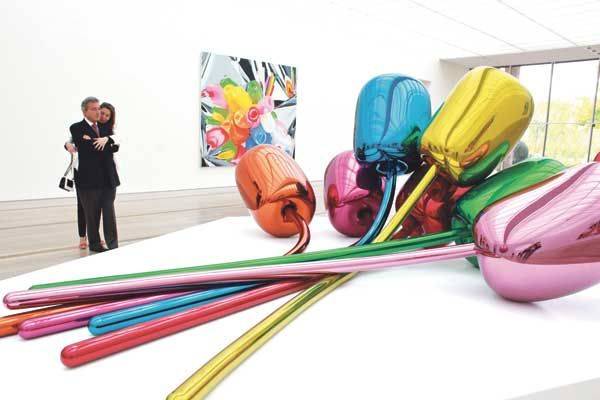 "Jeff Koons: Works including ""Tulips"", 1995-2004, are ..."