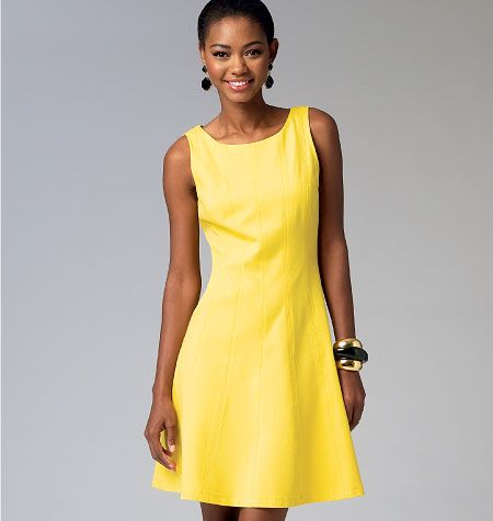 M6889, Misses' Dresses