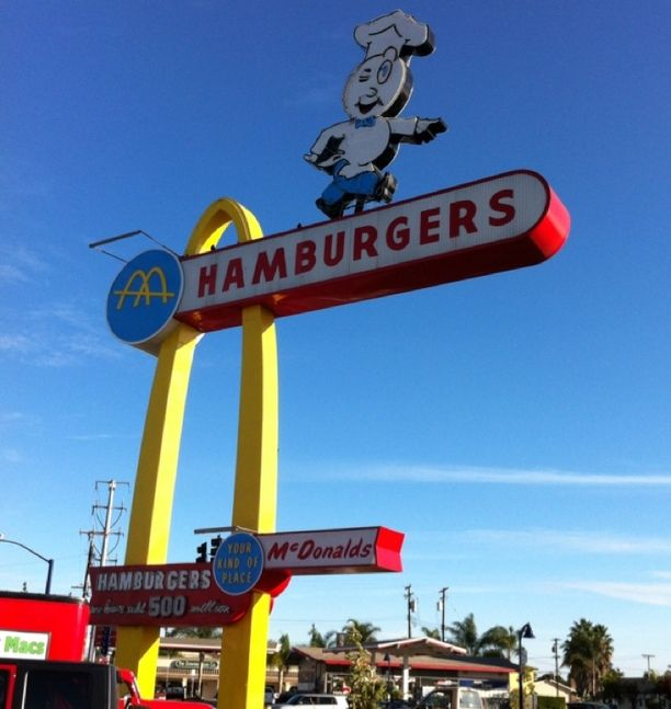 Original McDonald's in Downey, Downey, California — by MILAN. Stop by and visit if you are in the area
