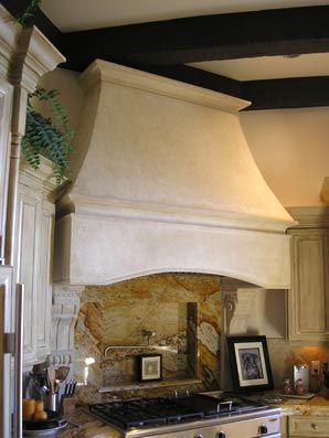 Nice simple design for Tuscan range hood Tuscan Stone Mantels  Custom Stone Kitchen Stove