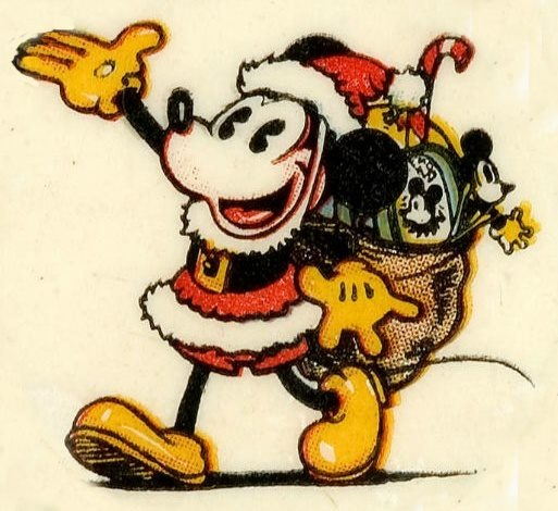 Vintage Mickey Mouse Christmas season image.