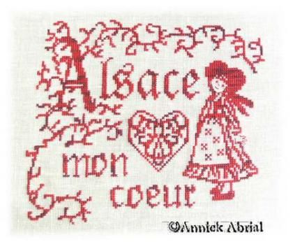 0 point de croix alsacienne - cross stitch alsatian girl