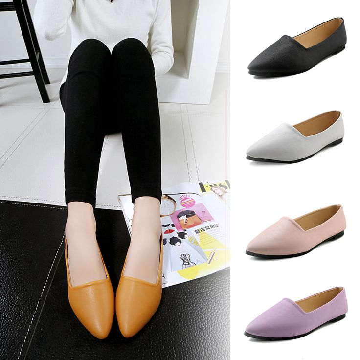 >> Click to Buy << Work Women Pointy PU Leather Drive Shoes Girls Boat Flat Loafer Candy Sweet Ballet Shoes Pregnant Woman Comfortable Shoes #Affiliate