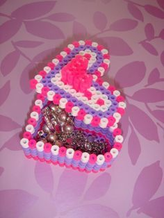perles à repasser, boîte à bijoux originale
