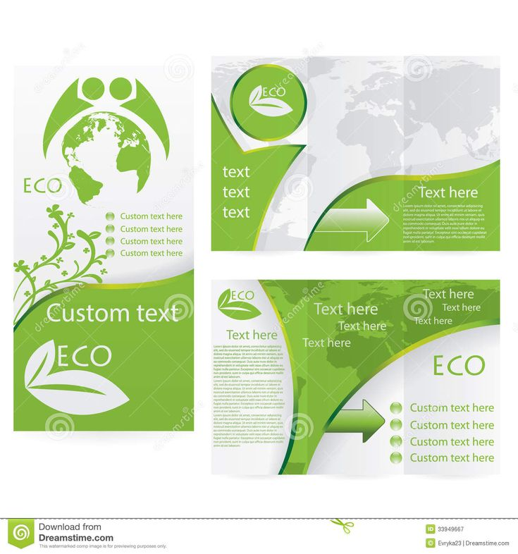 Brochure inspiration layout and color vector brochure for Environment brochure template