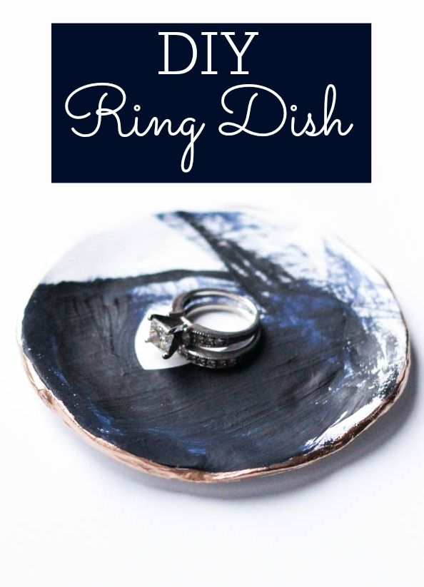 This is AWESOME! Make your own ring dish out of polymer clay!
