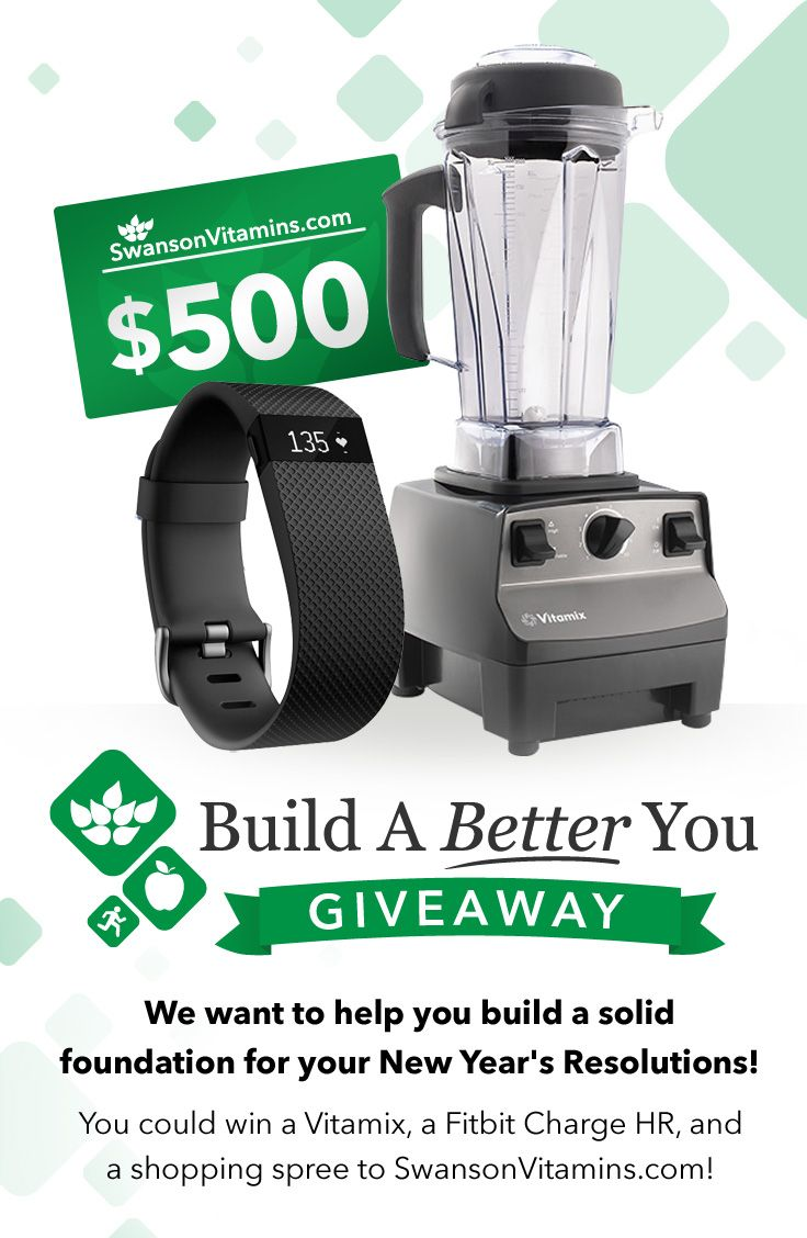 I just signed up to win a #Vitamix, #FitBit & $500 to @SwansonVitamins! Fingers crossed. #contest #giveaway