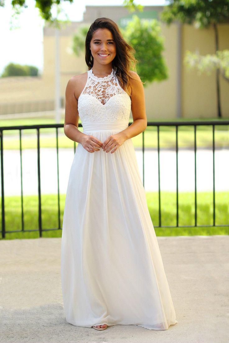 beige crochet maxi dress bridal shower