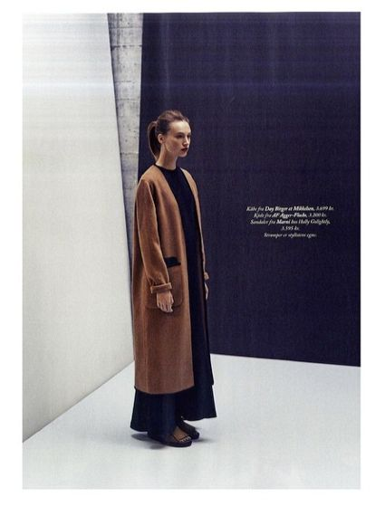 The perfect look for fall! The Briony coat featured in Eurowoman.